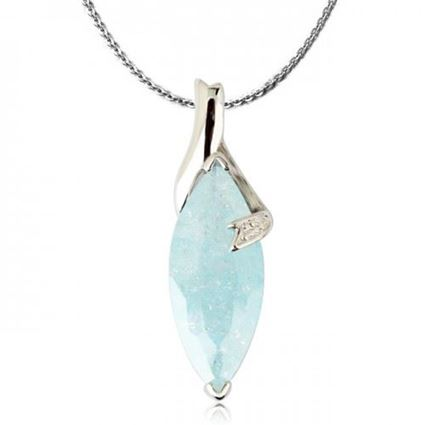 Picture of Special Crystal Pendant Necklace - Blue Zircon Crystal