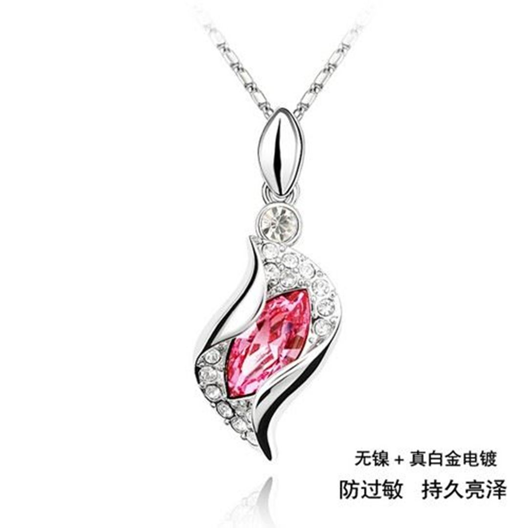 Picture of Special Crystal Pendant Necklace - Red Austrian Crystal