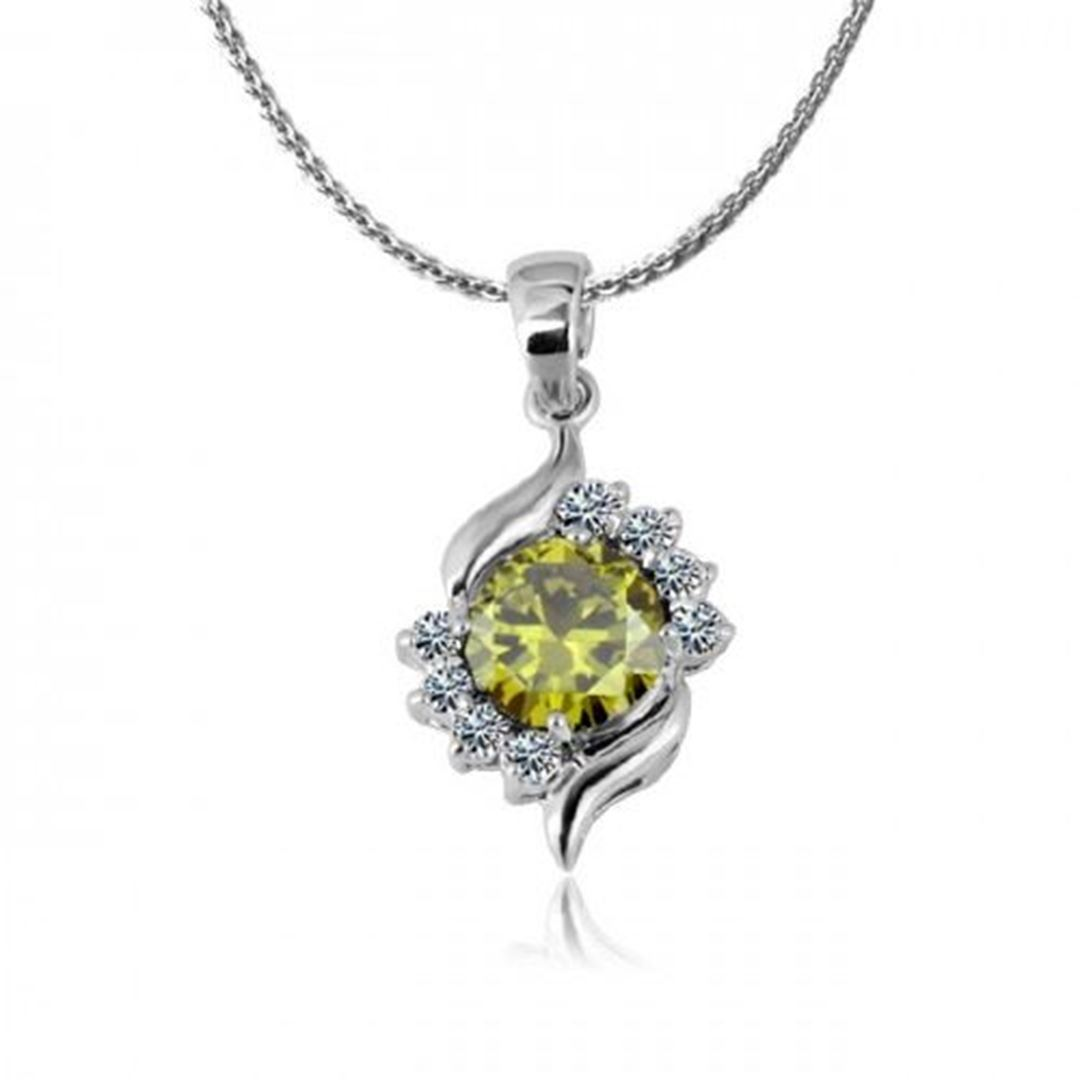 Picture of Zircon Crystal Pendant Necklace - Green Zircon Crystal