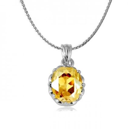 Picture of Zircon Crystal Pendant Necklace - Yellow Zircon Crystal